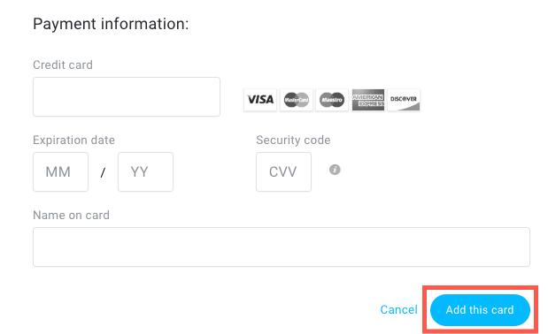 Add credit card final step