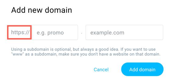 Adding domain HTTPS