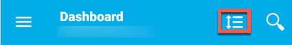 Personalize dashboard icon.