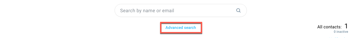 Advanced search indicated.