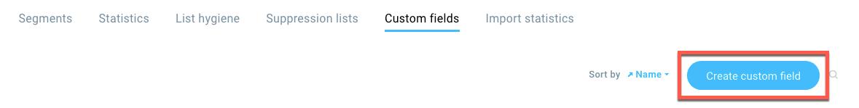 Add custom field button shown.