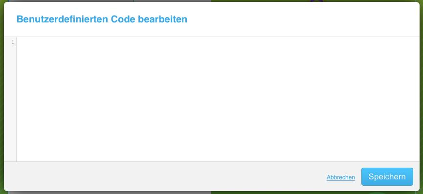 Modul, in das benutzerdefinierter Code eingegeben werden kann.