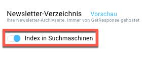 Indexierung deaktivieren.