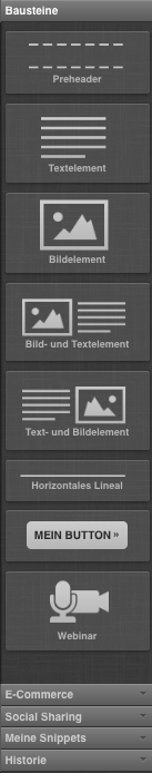 Toolbar-Optionen im Nachrichteneditor werden angezeigt.