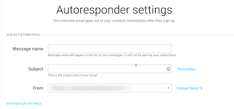autoresponder settings paid.