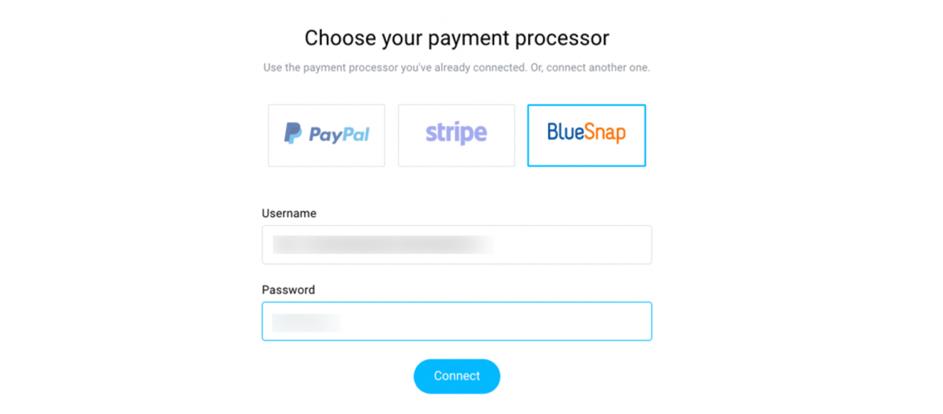 Bluesnap procesador de pago.