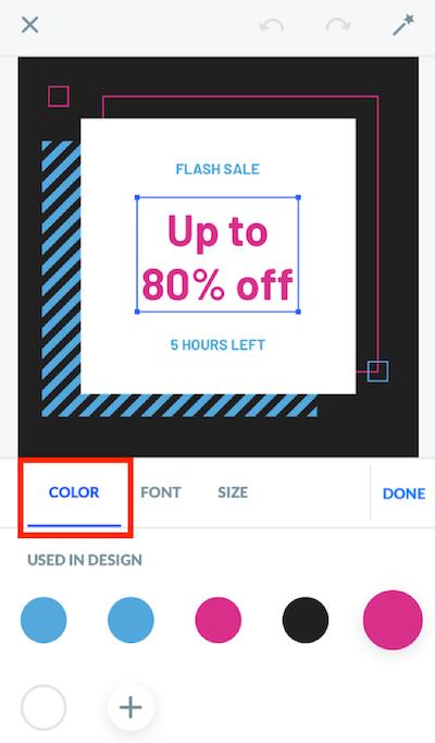 Edytowanie koloru.
