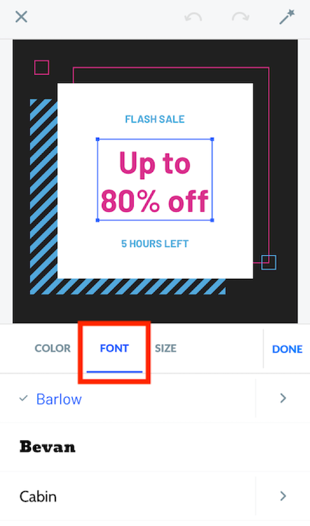 Editing font.