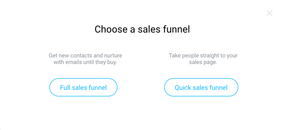 full and quick sales funnels.