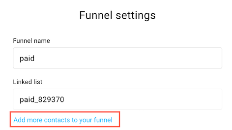 funnel settings page paid.