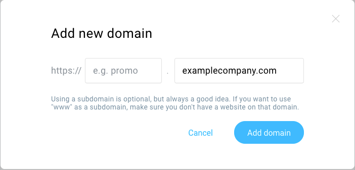 Domain added