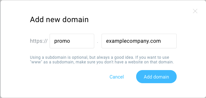 Subdomain added