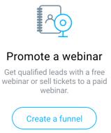 promote a webinar funnel.