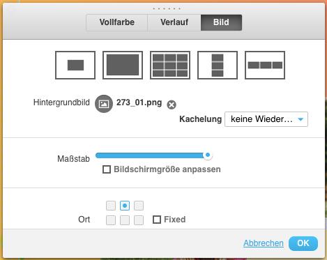 Hintergrundbild im Landing Page Editor.