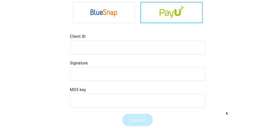 Procesador de pagos PayU.