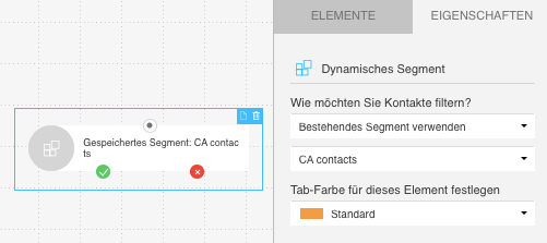 Workflow Element für Dynamisches Segment.