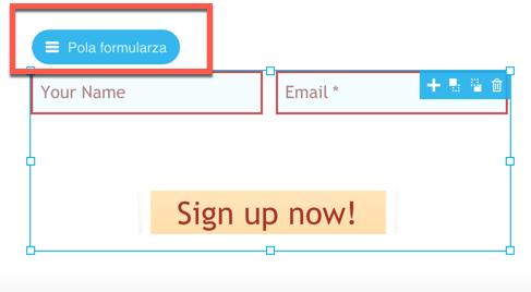kliknij pola formularza.