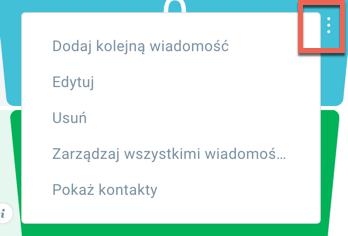 menu akcji.