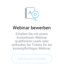 Auswahl Webinar-Funnel erstellen.