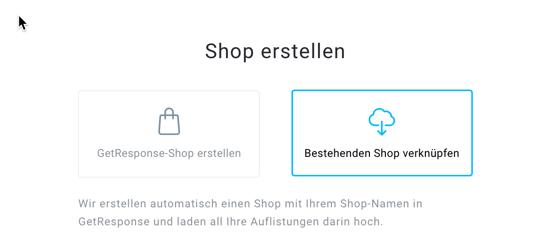 bestehenden Shop