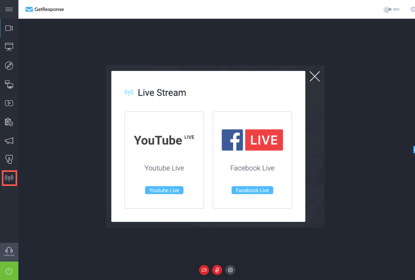 Live Stream Options