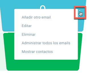 Añadir otro email.