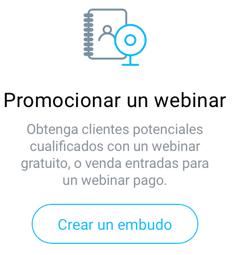 Promocionar un webinar.