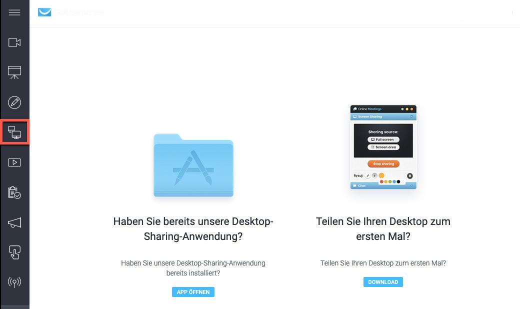 Desktop-Sharing Anwendung.