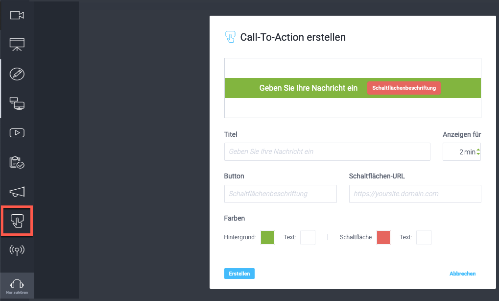 Call to Action erstellen