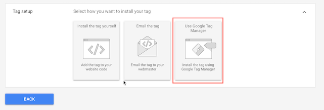 google tag manager.