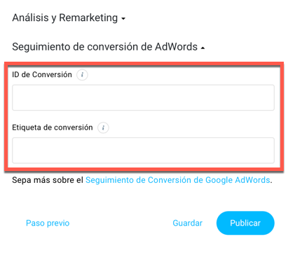 Análisis y remarketing.