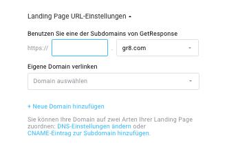Domain oder Subdomain zuweisen.