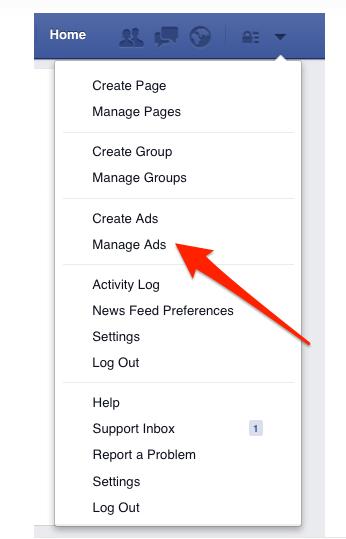 Facebook Werbeanzeigen erstellen.