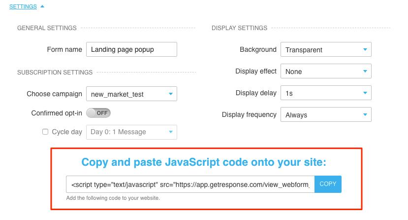 Auswahl Javascript kopieren.
