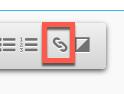 Hyperlink Icon in der Werkzeugleiste.