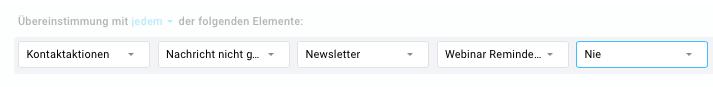 Beispiel Bedingung Newsletter nicht geöffnet.