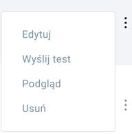 opcje dostępne w menu akcje.