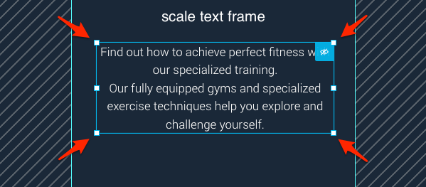 Scaling text block.
