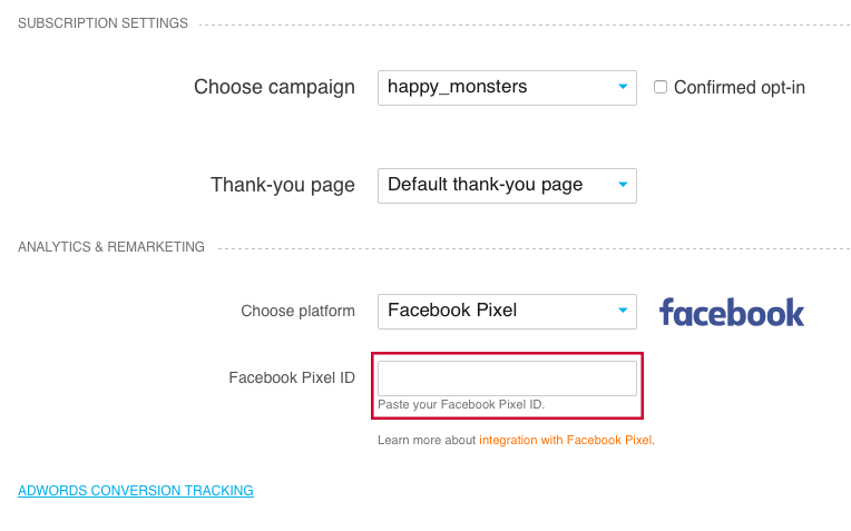 facebook pixel tracking.