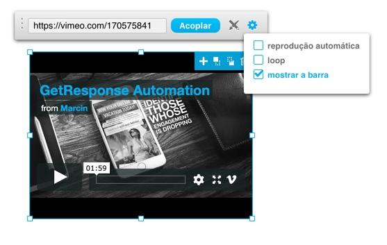 Vimeo - controles extras