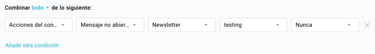 Buscar los contactos que no han abierto una newsletter.