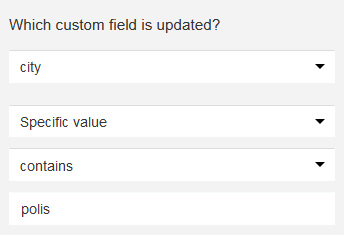 custom field changed contains value.