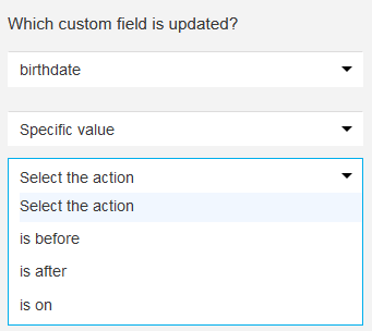 custom field changed date options.
