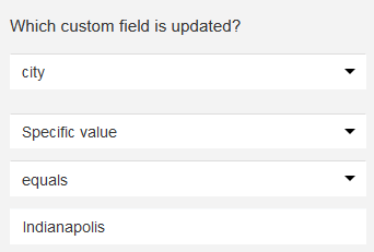 custom field changes specific value.