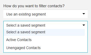 select dynamic segment.