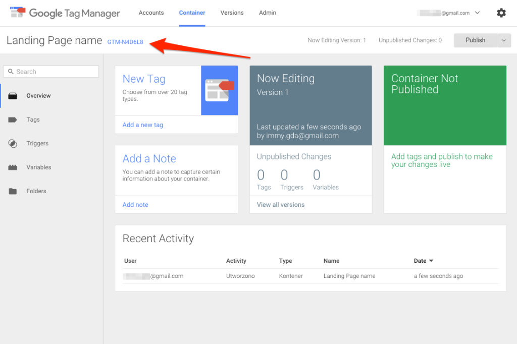 Tag Manager account setup 4.