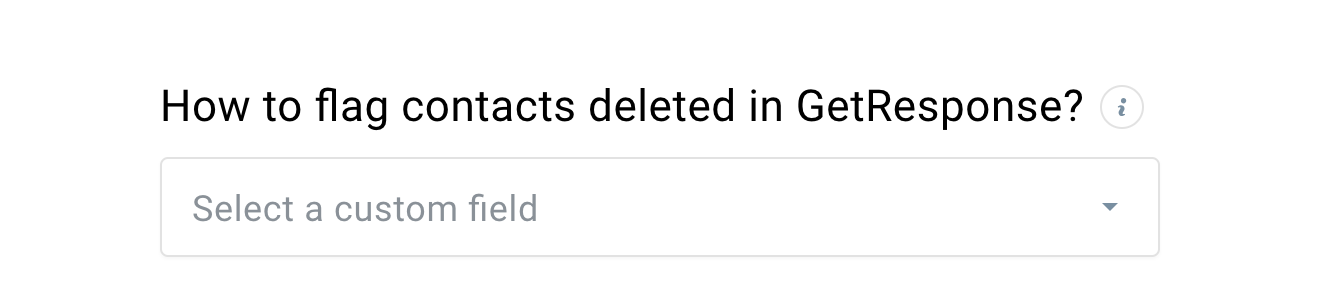 In GetResponse gelöschte Kontakte markieren.