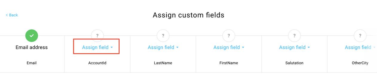 Benutzerdefinierte Felder zuordnen.
