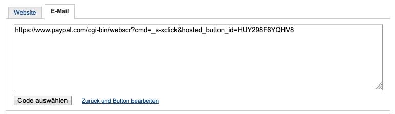 Auswahl E-Mail.