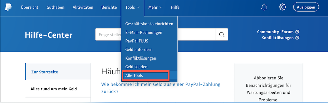Auswahl Tools Alle Tools.